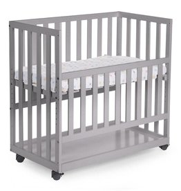 Childhome Childwood co-sleeper + wielen beuk stone grey