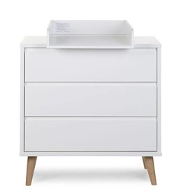 Childhome Childwood Retro Rio White commode small + verzorgingsunit