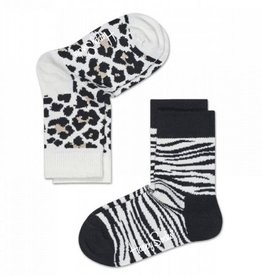 Happy Socks Happy Socks 2-pack Animal White 12 - 24 maanden