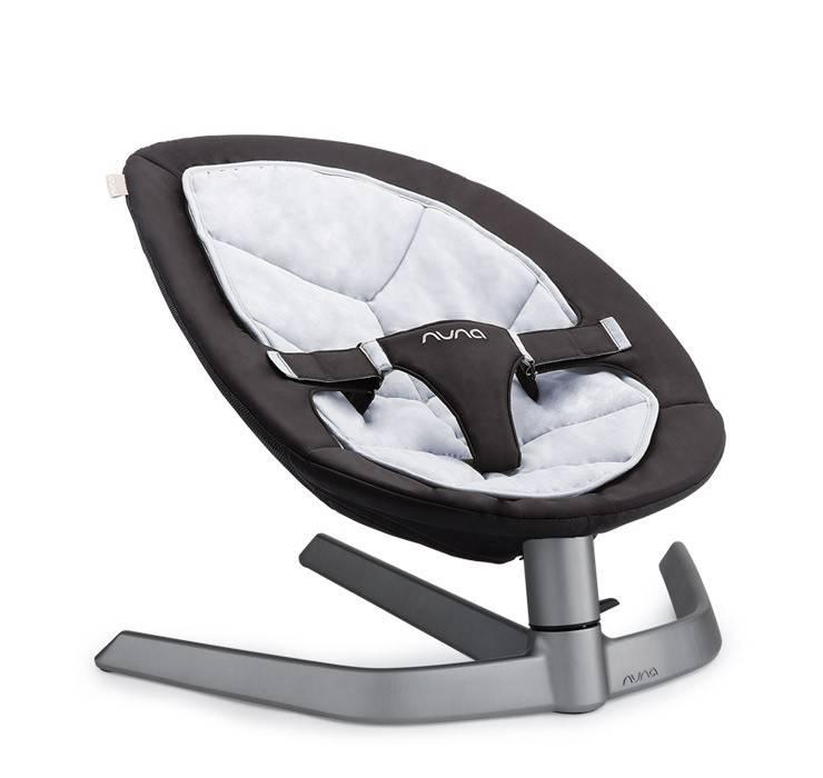 Nuna Nuna Leaf schommelstoel Twilight zwart wit