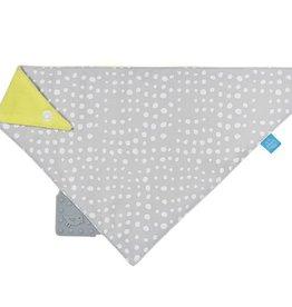Lassig Lassig babyslabbetje met bijtstuk raindrops grey
