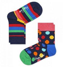 Happy Socks Happy Socks 2-pack Stripe Multi 12-24 maanden