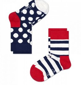 Happy Socks Happy Socks 2-pack Stripe White maat 12-24 maanden