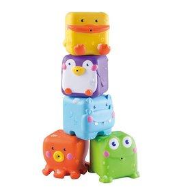B Kids badspeeltje Stack 'n Squirt pals 4st