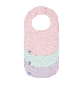 Lassig Lassig babyslabbetjes melange pink 3st