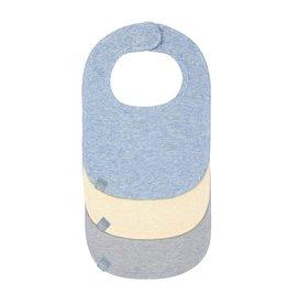 Lassig Lassig babyslabbetjes melange blue 3st