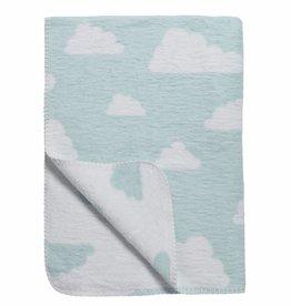Meyco Meyco dekentje little clouds blauw