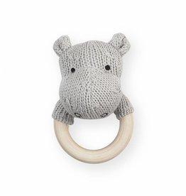 Jollein Jollein bijtring hippo soft knit light grey
