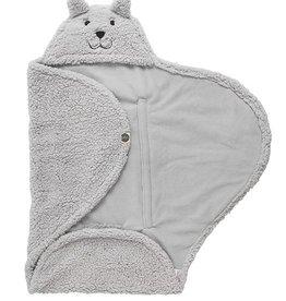 Jollein Jollein wikkeldeken teddy bear grey