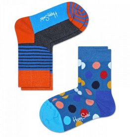Happy Socks Happy Socks 2-pack Big Dots blue 0-12 maanden