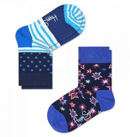 Happy Socks Happy Socks 2-pack Bang Bang  blue 12-24 maanden