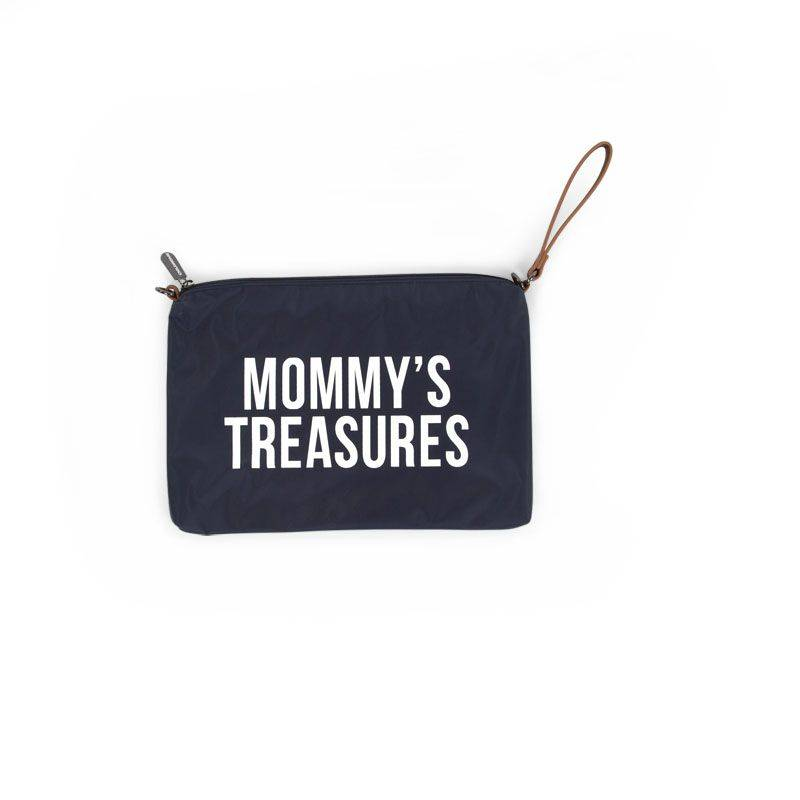 Childhome Childwheels mommy clutch navy white