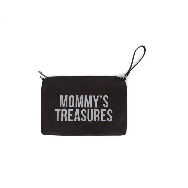 Childhome Childwheels mommy clutch black silver