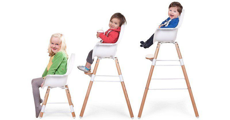 Childhome Childwood evolu ONE 80° stoel antraciet/naturel 2 in 1 + bumper