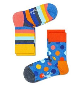 Happy Socks Happy Socks 2-pack Big Dots grey