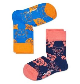 Happy Socks Happy Socks 2-pack Cat & Dog