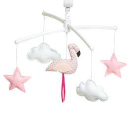 Pouce et Lina Pouce et Lina mobiel pastel pink flamingo