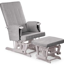 Childhome Childwood  gliding chair square stone grey + voetenbank