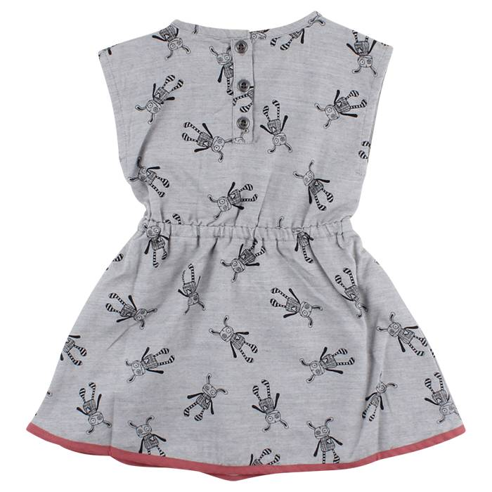 Small Rags Small Rags kleedje grey melange maat 74