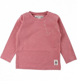 Small Rags Small Rags t-shirt dark sepia rose maat 62