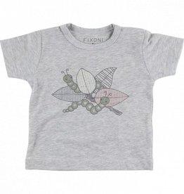 Fixoni Fixoni t-shirt grey melange maat 68
