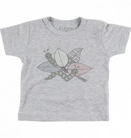 Fixoni Fixoni t-shirt grey melange