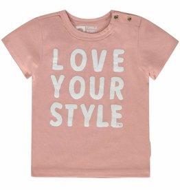Tumble 'n Dry Tumble 'n dry Pebbles t-shirt crepe pink maat 80