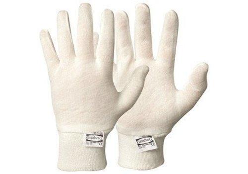 Katoen zachte onderhandschoen (2) WIT M-L