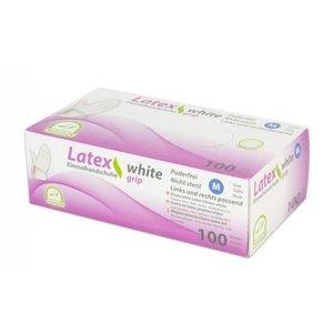 Medi-Inn Latex GRIP medische handschoenen WIT 100 st