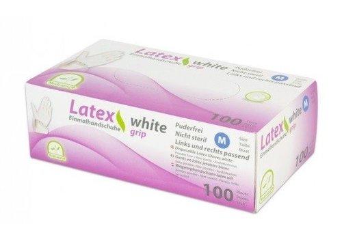 Latex GRIP medische handschoenen WIT 100 st