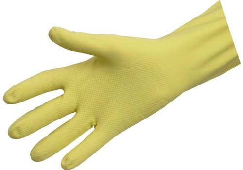 Huishoudhandschoenen latex rubber met grip