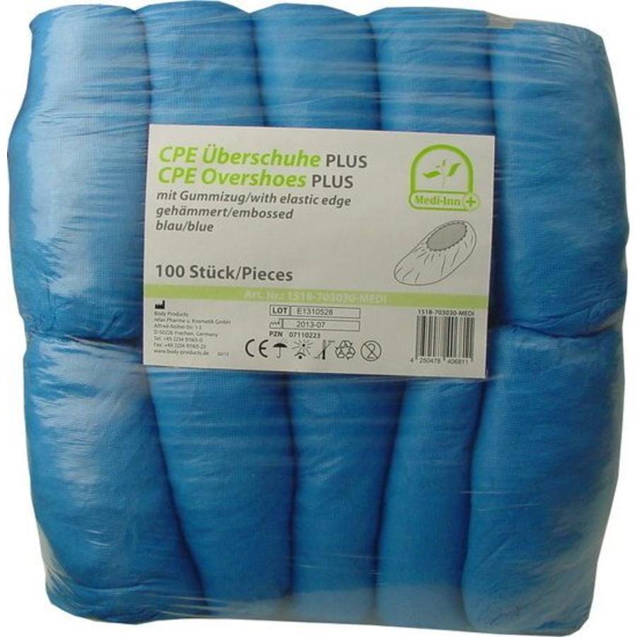 Schoenovertrek blauw - 100 stuks zware uitvoering