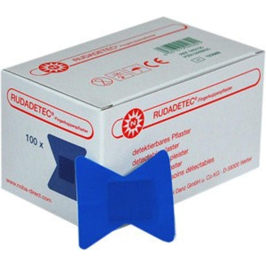 Vingertop pleisters blauw detecteerbaar 100 st