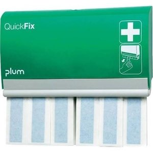 QuickFix Plum pleisterdispenser met 60 detecteerbare lange pleisters