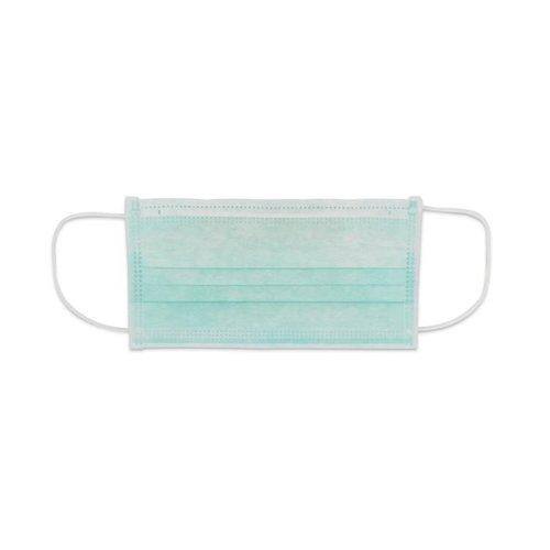 Mondkapjes met katoenen oorbandje kl.2 latexvrij 3 laags