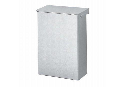 Afvalbak aluminium - klein met klepdeksel 15 liter