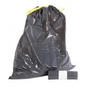 Europroducts Afvalzakken LDPE groot T50 grijs met trekband per rol met 10 zakken