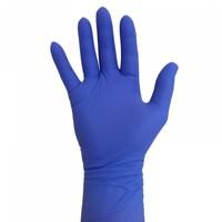 Nitril handschoenen Extra Lang Manchet blauw 300mm 100 st