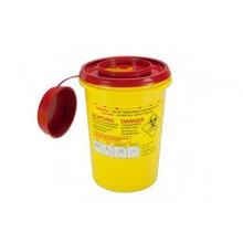 MedicaMarkt Naaldencontainer 1 liter UN 3291 per 1 stuk