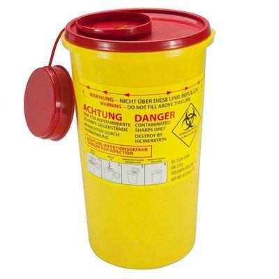 MedicaMarkt Naaldencontainer 3 liter UN 3291 per 1 stuk