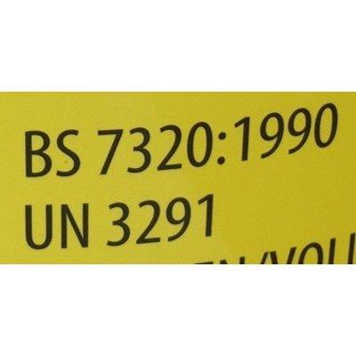 MedicaMarkt Naaldencontainer 8 liter UN 3291 per 1 stuk