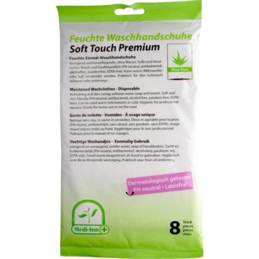 Vochtige washandjes - Premium Aloe Vera - pak met 8 stuks