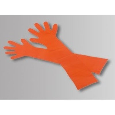 Medi-Inn Veterinaire PE handschoenen 90cm oranje
