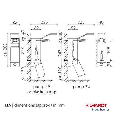 Ingo-Man Ophardt zeepdispenser wanddispenser 500 ml aluminium ELS 26A/25 met lange beugel