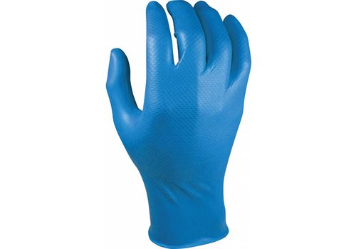 blauwe nitril extra dik dispenser a 50st