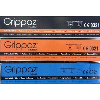 Grippaz 246BL blauwe nitril extra dik 500 st