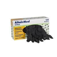 AltairMed zwarte nitril handschoenen extra dik 100 st