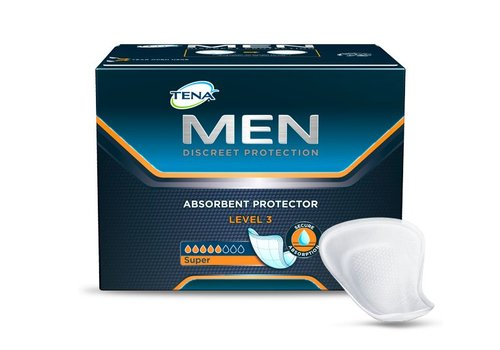 16x Tena Level 3 for men incontinentie inleggers mannen