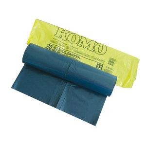 Komo afvalzakken grijs 60 liter met sluitstrip - 1 pak a 20 zakken