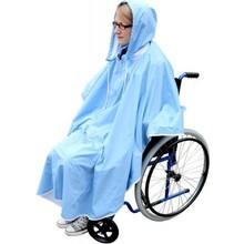 Medi-Inn Regenponcho blauw voor fiets, rollator, rolstoel ps